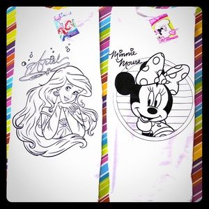 Two Girls' Disney Graphic DIY Color Me T-Shirts!